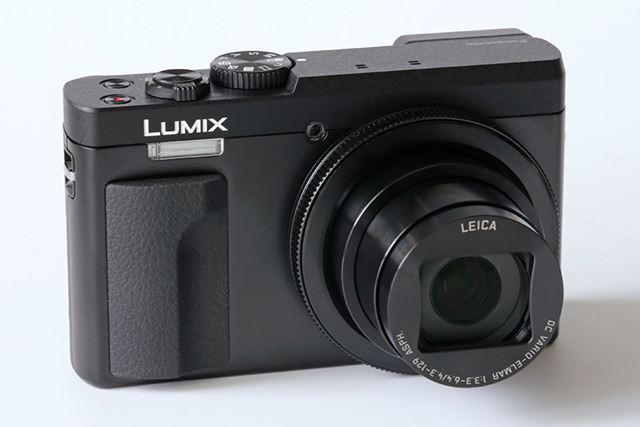 LUMIX DC-TZ90のブラックカラー。ブラックとシルバーのカラーバリエーションが用意されています