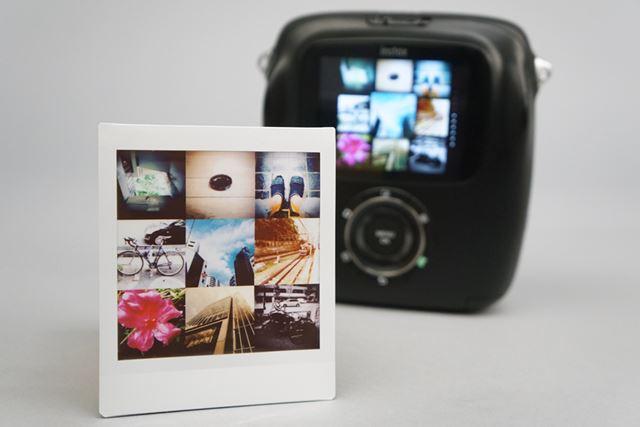 撮り溜めた写真をサムネイル表示。それをそのままプリントできる。これはこれでオシャレ!