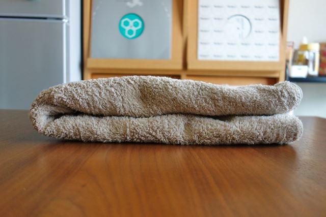 ウールジーズで乾燥したバスタオルです