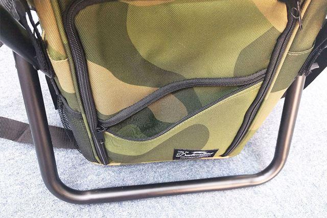 バッグ前面の扉にファスナー付きのポケット