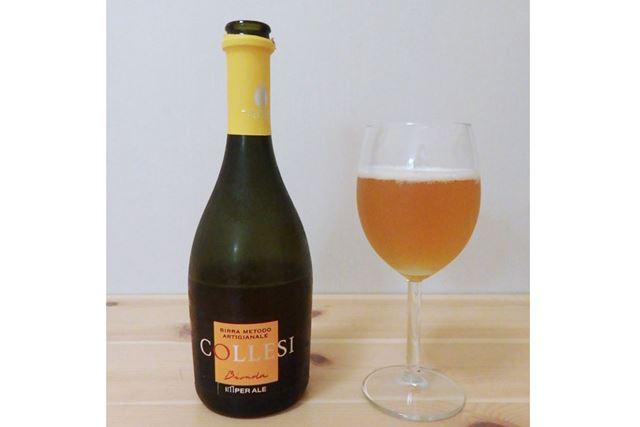 エールビールらしい黄金色の「ビオンダ」。クセがなく、どんな人でも飲みやすいビールだと思います