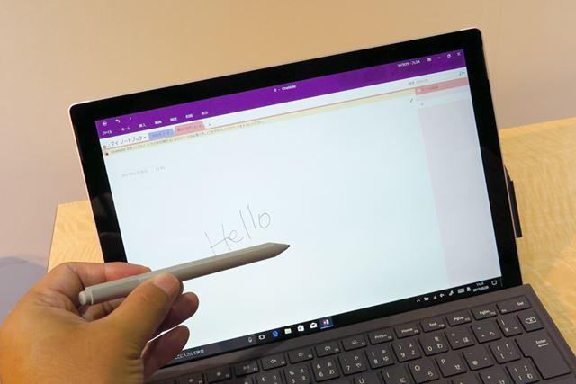 ペンの追従性がアップし、さらに滑らかに文字が書けるようになった