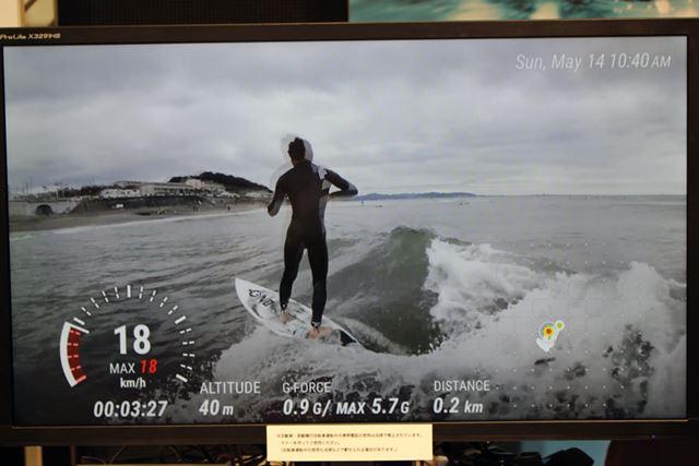 動画上に速度や標高などのアクティビティログをオーバーレイ表示する新機能を搭載する