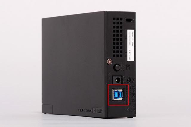 赤枠で囲んだのがUSB 3.0ポート。これ以外にポータブル用の小型なものもあります