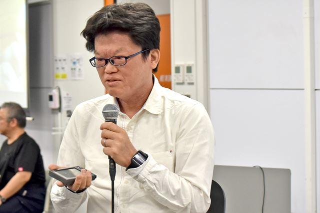 """Palmの神様""でおなじみの山田達司氏。日本におけるPalmの歴史は、彼から始まったと言っても過言ではない"