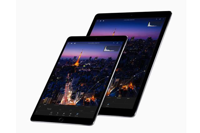 10.5型のiPad Proと12.9型のiPad Pro