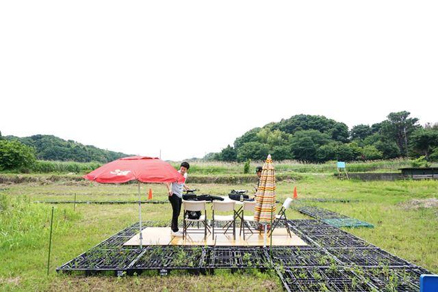 試用したのは、千葉県・幕張にあるドローン飛行場「HATAドローンフィールド千葉」