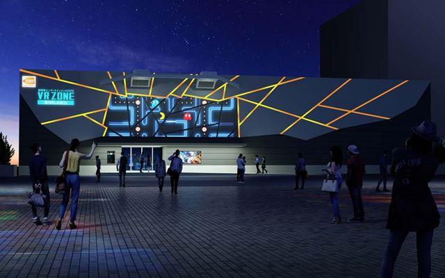 「VR ZONE SHINJUKU」の外壁にはプロジェクションマッピングが取り入れられるそうです