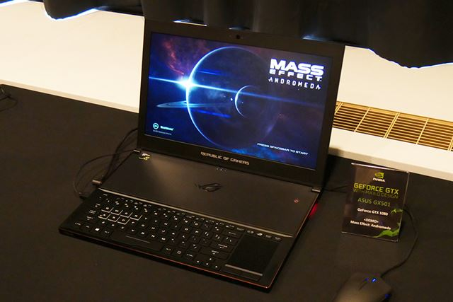 GeForce GTX 1080を搭載するASUS「ZEPHYRUS」(厚さは18mm)