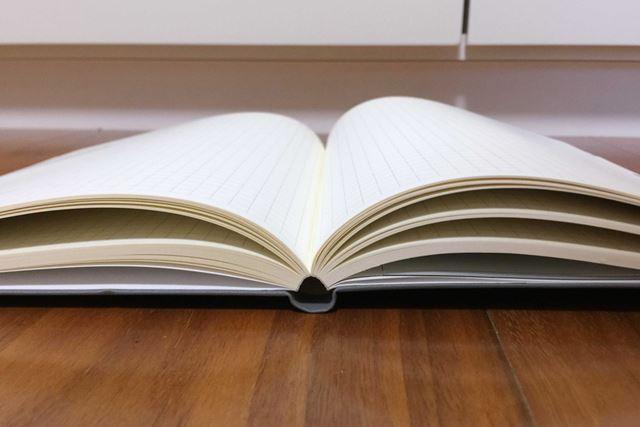 どのページでも広く開きます