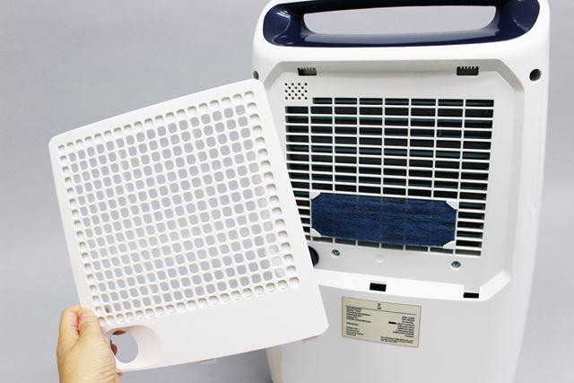 放出する空気のキレイさにも配慮しており、背面に2種類のフィルターを装備
