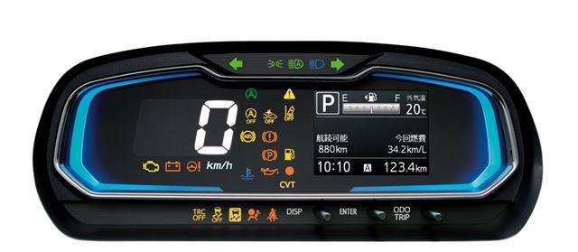 デジタル表示で明るく大きく表示される速度計など、メーターの視認性も高められた