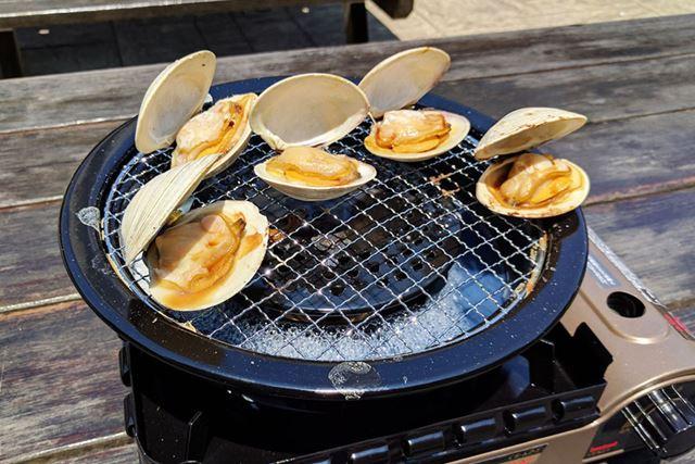 千葉県産のホンビノス貝(白ハマグリ)を焼きました!