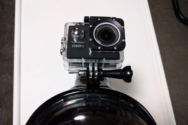 アクションカメラ取り付け箇所があります