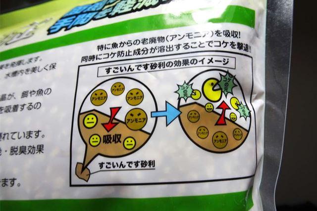 魚にとって有毒となり、分解されるとコケの肥料になるアンモニアを吸着する効果が特に高いようです