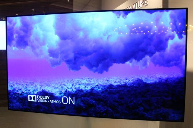 HDR対応するLGの4K有機ELテレビ「LG SIGNATURE」シリーズ