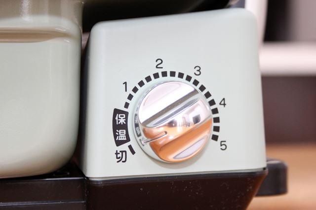 温度調整は5段階(保温は除く)ですが、焼き物はほとんど「5」で調理します