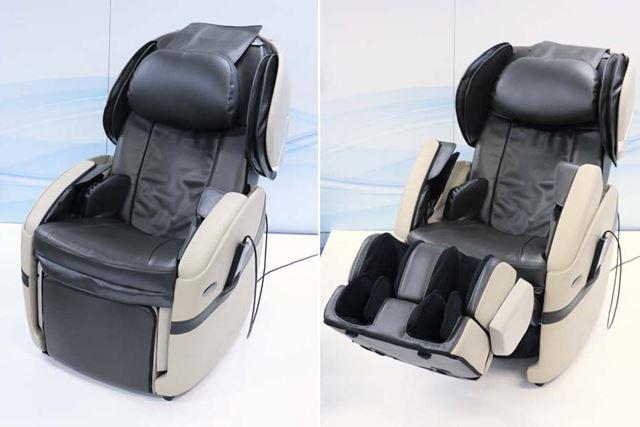 肩部と脚部が収納可能。マッサージをしない時はソファとして使用できる