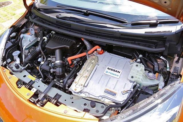 日産 ノート e-POWERの1.2リッターエンジンは発電のみに使用され、駆動はモーターが行う