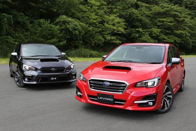 (右)新型「レヴォーグ」2.0GT-S EyeSight/(左)新型「WRX S4」2.0 GT-S EyeSight