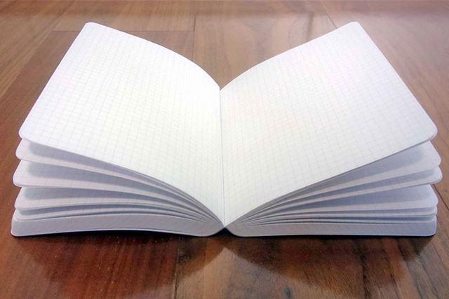 「ジークエンス360ノート」にとって、どのページでもぱかっと180度に開くのは楽勝