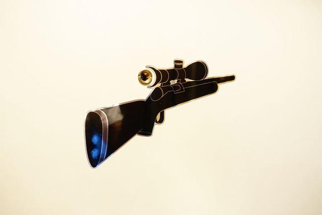 ライフルです。銃床が大きく、銃口が小さくデザインされているため立体感にあふれています