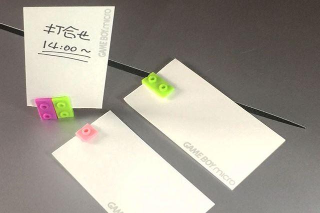 クリップですので、このようにメモ紙などをはさんで使えます