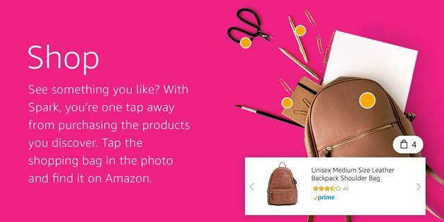 画像に表示されているカバンのアイコンをタップすれば、欲しい商品をアマゾンでそのまま購入できます