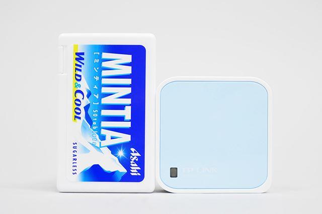 設置面積は「MINTIA」のケースより若干小さい。厚みはあるが胸ポケットにもスッポリ入る