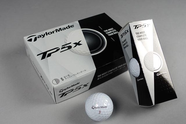 こちらはTP5x。各社スピン系ボールには兄弟モデルがあり、自分の好みに合わせて選べます