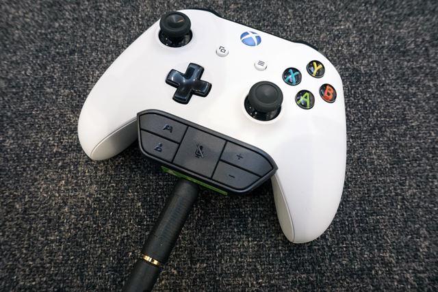 音量調整をするには、別売りの「Xbox One ヘッドセット アダプター」が必須だ