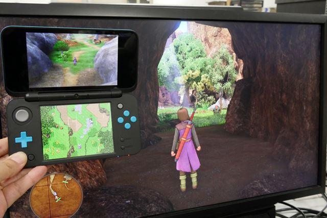 これもまったく同じ場所の画像。PS4版で表示されている坑道が、3DS版にはありません