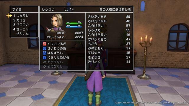 正しい「ふっかつのじゅもん」を入力すると、3DS版と同じ教会からゲームは再開