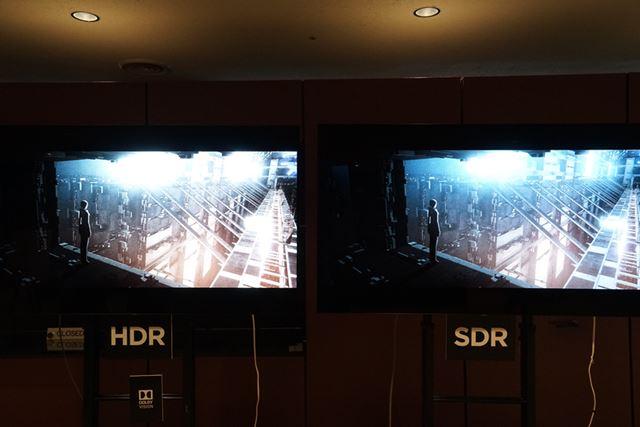 イベント会場ロビーでは『BLAME!』のHDR/SDR版の比較デモが行われていた
