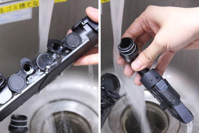 使用後は、このように水洗いして清潔に保てるのもポイント