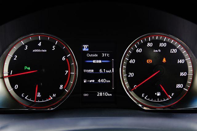 トヨタ 新型「ハリアーターボ」のスピードメーター