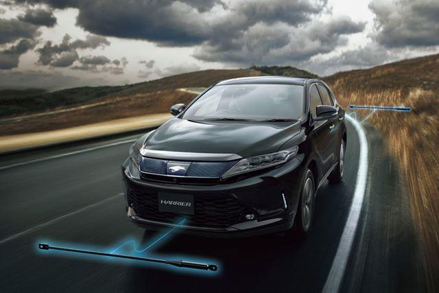 トヨタ 新型「ハリアーターボ」へ装着されている「パフォーマンスダンパー」イメージ