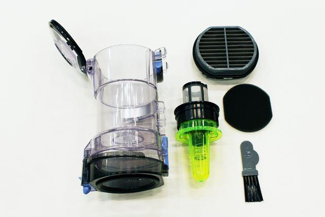 もちろん、ダストケースを取り外して丸ごと水洗い可能。清潔に保つことができます