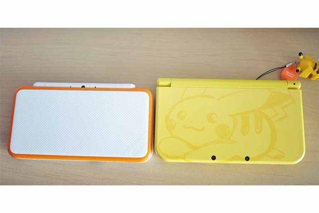 右が「New 3DS LL」です。本体サイズは「New 2DS LL」のほうが少し小さいです