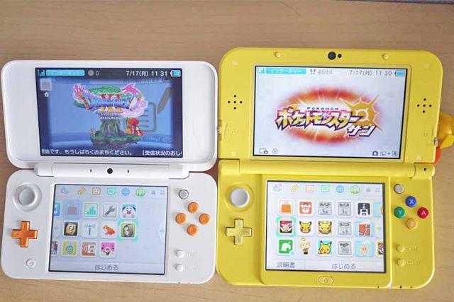 画面サイズは「New 3DS LL」と同じですが、本体サイズが小さいため、画面が大きく見えますね