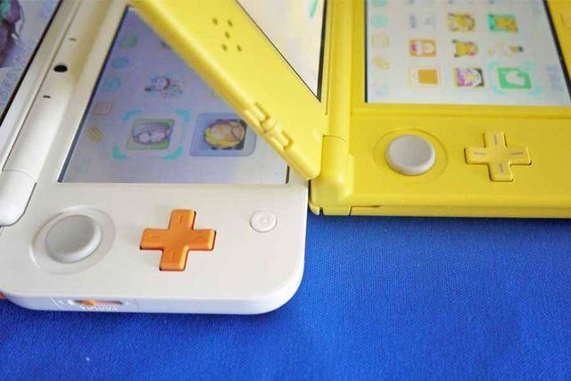 3Dスティックと十字ボタンの間隔が「New 2DS LL」のほうが広くなっています