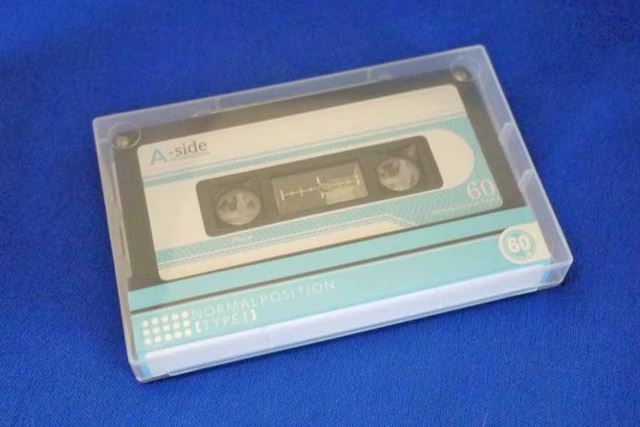 100均でも購入できるカセットテープ。今回はこちらで録音、再生を楽しみました