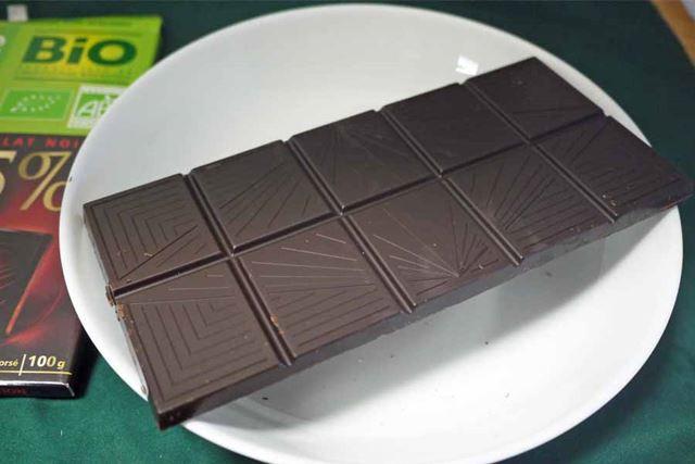 シンプルな板チョコですが、味わいはかなり濃厚