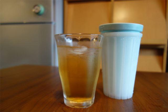 自家製梅ジュースをキンキンに冷やしていただきます!