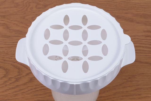 炊飯パーツが「おねば」の吹きこぼれを防ぎ、ごはんの甘みや弾力を引き出してくれる