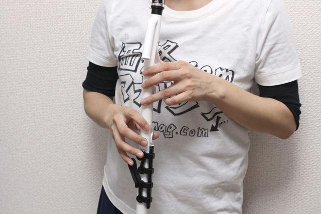 C調で設計されているので、ソプラノリコーダーと同じ指使い・押さえ方で演奏できます
