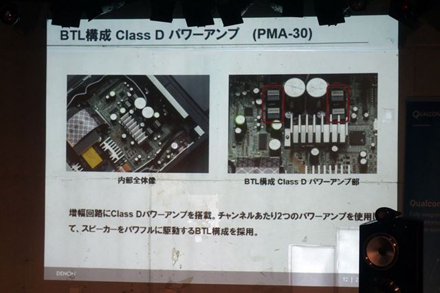 BLT構成のClass Dパワーアンプを搭載
