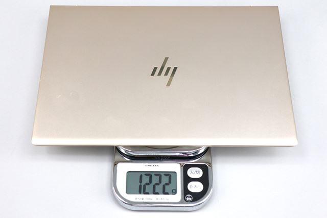 重量は実測で1222gだった