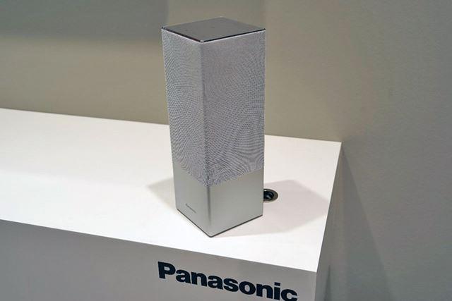 プレスカンファレンスで披露されたGoogle Assistant対応のスマートスピーカー「SC-GA10」