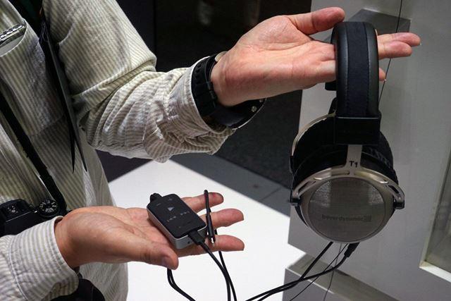 Lightning直結でiOSデバイスへ対応するポータブルDAC「Impacto Universal」も出展